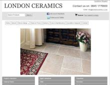 London Ceramics, Weybridge Website Design client