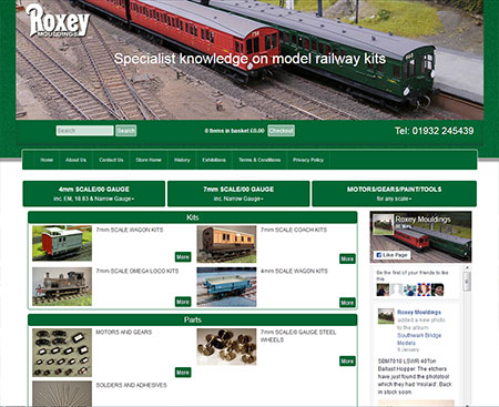 Roxey Mouldings E-Commerce Website